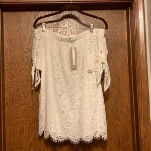 NWT off the shoulder white blouse